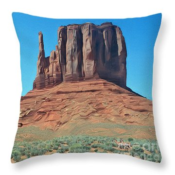 Where The Deer And The Antilope Play Throw Pillow