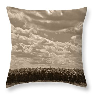 Where The Foundation Meets The Sky Throw Pillow