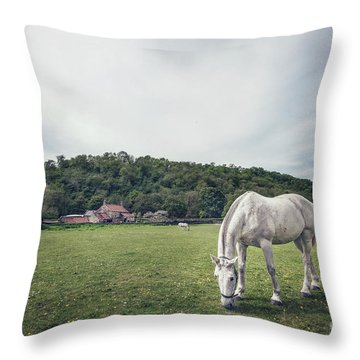 Where The Green Grass Grows Throw Pillow