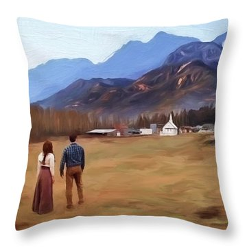 Where The Heart Is - Landscape Art Throw Pillow by Jordan Blackstone