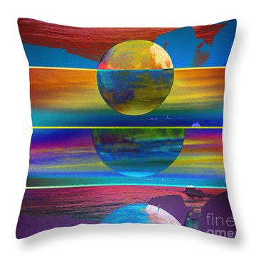 Where The Land Ends Throw Pillow