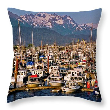 Where The Land Ends ... Throw Pillow by Juergen Weiss