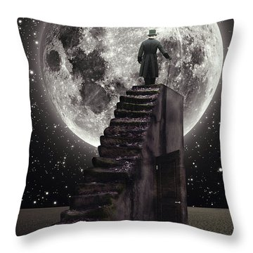 Where The Moon Rise Throw Pillow