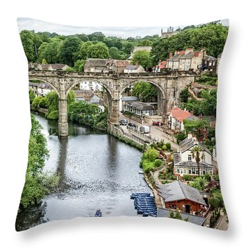 Where The River Flows Throw Pillow