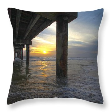 Where The Sand Meets The Surf Throw Pillow