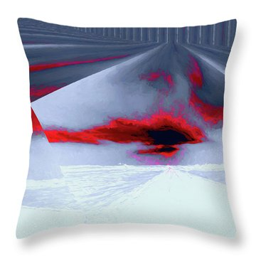 Where The Sky Bends Throw Pillow