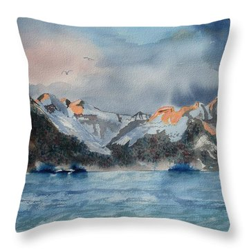Where The Sun Never Sets  Throw Pillow by Warren Thompson
