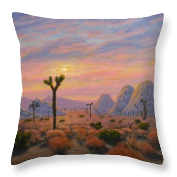 Where The Sun Sets Throw Pillow
