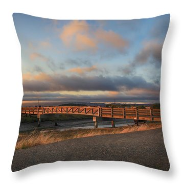 Where The Years Behind Are Piled Up High Throw Pillow