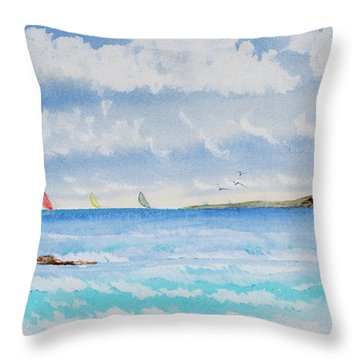 Where There's A Wind, There's A Race Throw Pillow