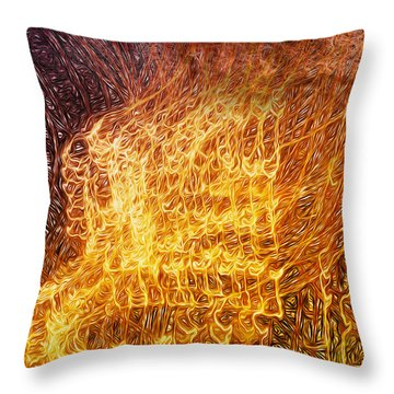 Where Theres Smoke Throw Pillow