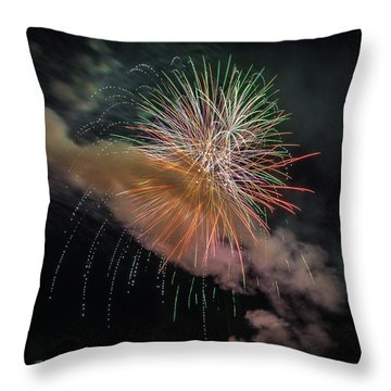 Throw Pillow featuring the photograph Where There's Smoke by Bill Pevlor