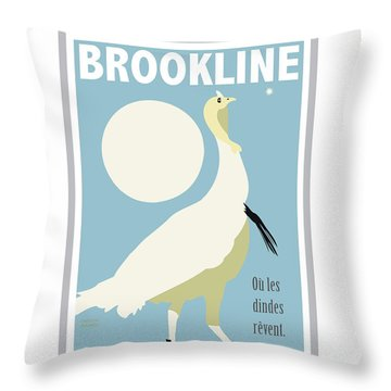 Where Turkeys Dream Throw Pillow