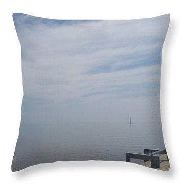 Where Water Meets Sky Throw Pillow