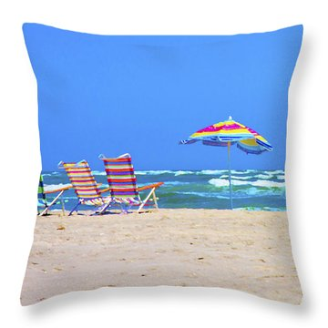 Where We Want To Be Throw Pillow by Betsy Knapp