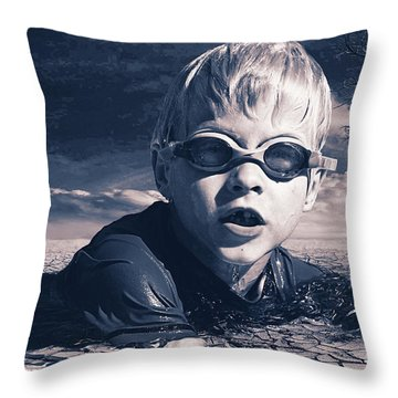 Where Will He Swim Tomorrow Throw Pillow by Chris Armytage