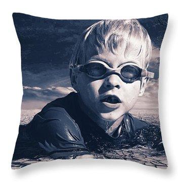 Where Will He Swim Tomorrow Throw Pillow