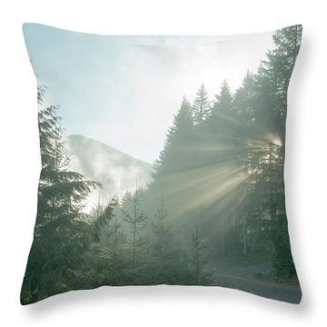 Where Will Your Road Take You? Throw Pillow