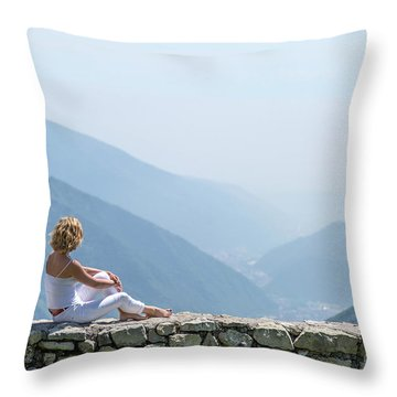 Where You Touch The Sky Throw Pillow