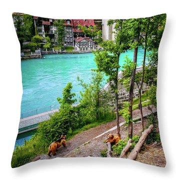 Where's Goldilocks? Bern Switzerland  Throw Pillow