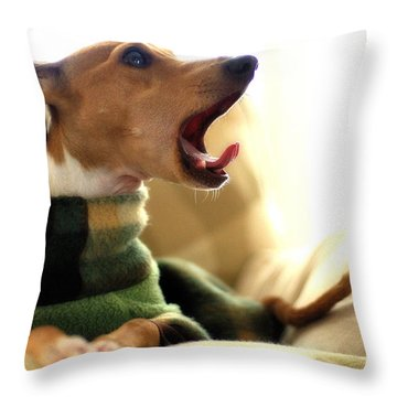 Where's My Coffee Throw Pillow by Angela Rath