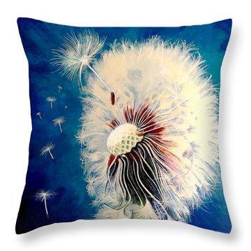 Wherever The Wind Takes Me Throw Pillow
