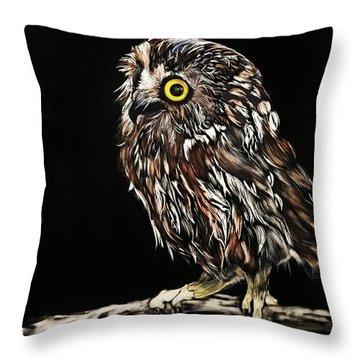 Whet Owl Throw Pillow