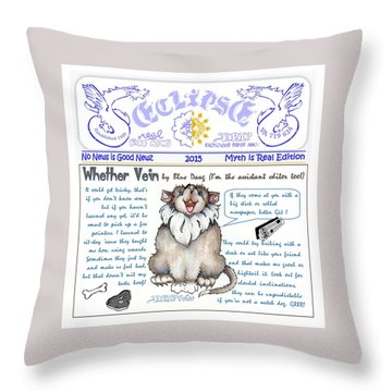 Real Fake News Blue Dawg Column Throw Pillow
