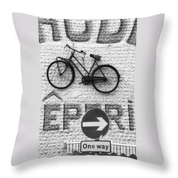 Which Way Throw Pillow by Hazy Apple