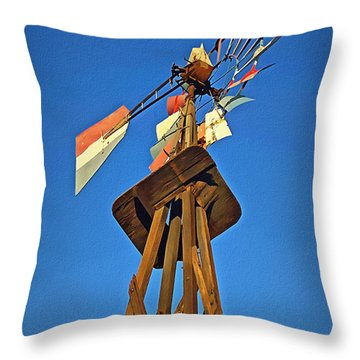 Which Way The Wind Blows Throw Pillow