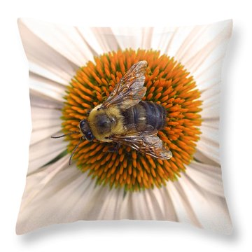 While In Macro  Throw Pillow