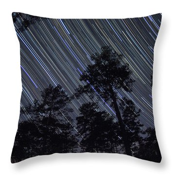 While You Were Sleeping Throw Pillow by Dan Wells