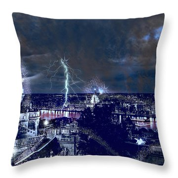 Whimsical Budapest Throw Pillow