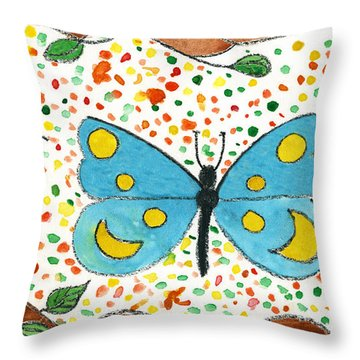 Whimsical Butterfly For The Young Of Any Age Throw Pillow by Lenora  De Lude