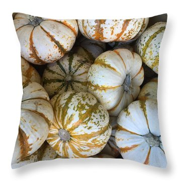 Whimsical Pumpkins Throw Pillow by Russell Keating