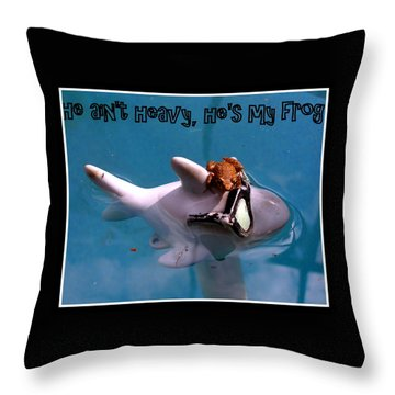 Throw Pillow featuring the photograph Whimsical Shark by Irma BACKELANT GALLERIES