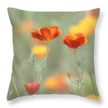 Whimsical Summer Throw Pillow
