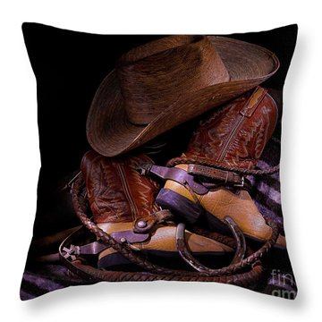 Whip It Cowboy Throw Pillow