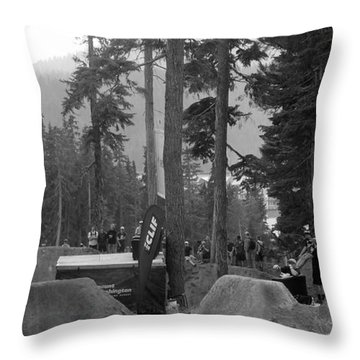 Whipoff In Red Throw Pillow