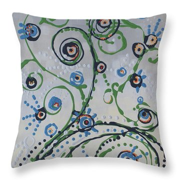 Throw Pillow featuring the painting Whippersnapper's Whim by Holly Carmichael