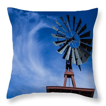 Whipping Up The Clouds Throw Pillow