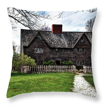 The John Whipple House In Ipswich Throw Pillow