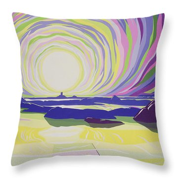 Whirling Sunrise - La Rocque Throw Pillow by Derek Crow