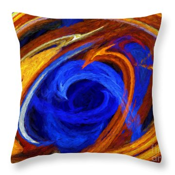 Whirlpool Abstract Throw Pillow by Andee Design
