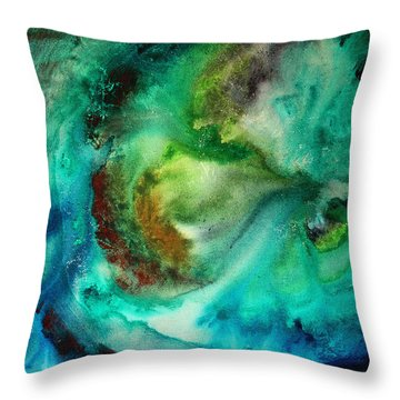 Whirlpool By Madart Throw Pillow by Megan Duncanson