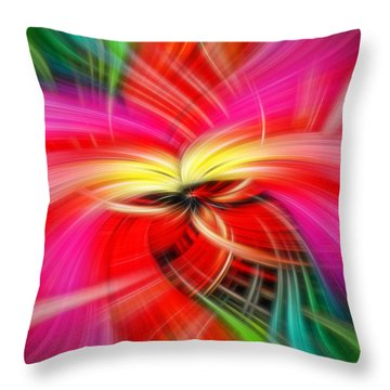 Whirlwind Of Colors Throw Pillow by Sue Melvin