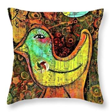 Whirly Bird Throw Pillow