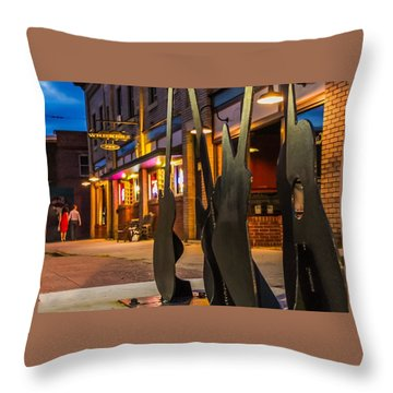 Whiskerz And Guitar Icons Throw Pillow