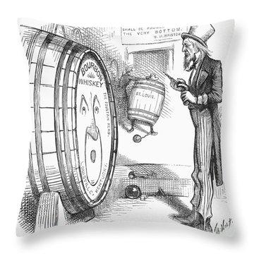 Whiskey Ring Cartoon, 1876 Throw Pillow by Granger