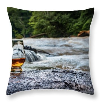 Whisky River Throw Pillow